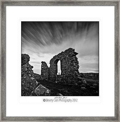 Llanddwyn Island Ruins Framed Print by Beverly Cash