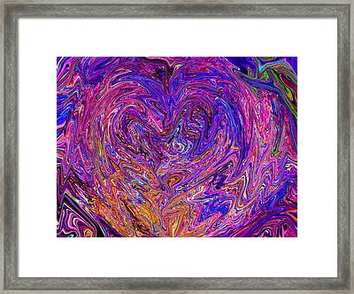 Love From The Ripple Of Thought  V 6  Framed Print
