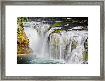Lower Falls On The Upper Lewis River Framed Print by Ansel Price