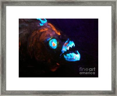 Man-eating Piranha Framed Print by Robert Del-Rose