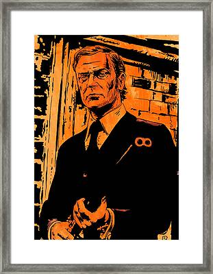 Michael Caine Framed Print by Giuseppe Cristiano