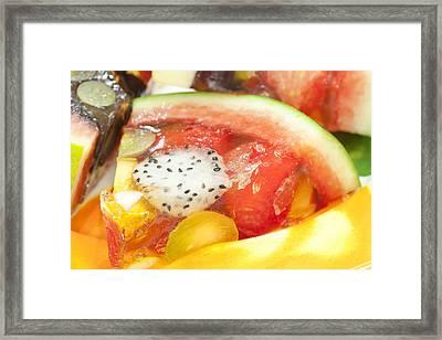 Mixed Fruit Watermelon Framed Print by Anek Suwannaphoom