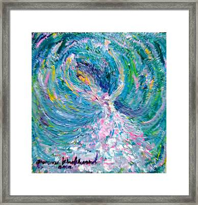 My Art Become To Be My Happiness World Framed Print