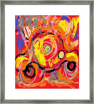 Framed Print featuring the painting  My Jalopy by Anita Dale Livaditis