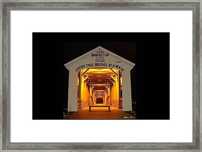 Night Glow Framed Print by Robin Pross
