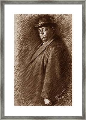 Notorious B I G  Framed Print by Ylli Haruni