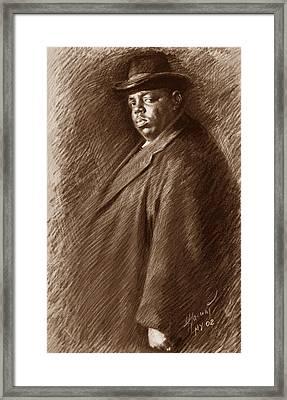 Notorious B I G  Framed Print by Ylli Haruni