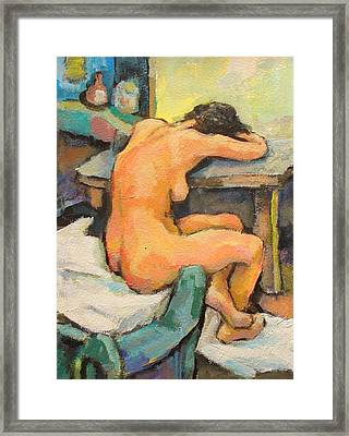 Nude Painting 2 Framed Print by Alfons Niex