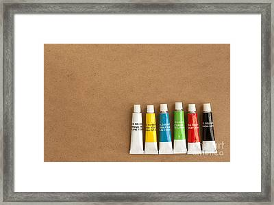 Oil Paint Tubes Framed Print
