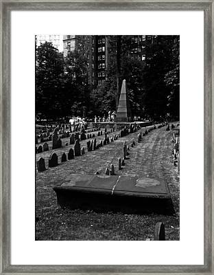Old Boston Cemetery Framed Print by Thomas D McManus