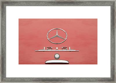 Old Mercede-benz Logos Framed Print by Odon Czintos