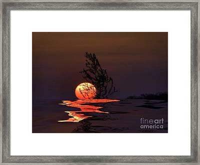 Our Sun Framed Print by Renate Knapp