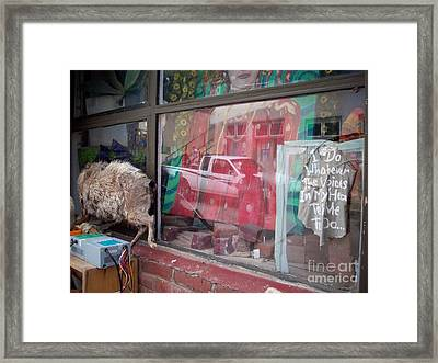 Out Side Looking In Framed Print