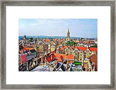 Oxford Cityscape Framed Print
