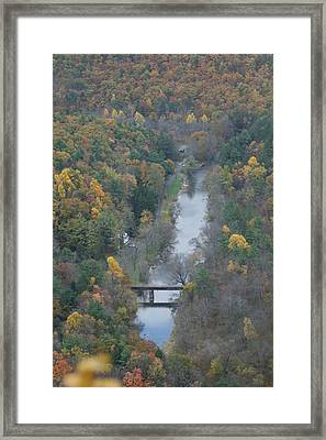 Pa Valley View Framed Print by Cheryl Perin