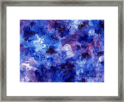 Framed Print featuring the painting  Painting Of Flowers Energy In Abstract Form by Annie Zeno