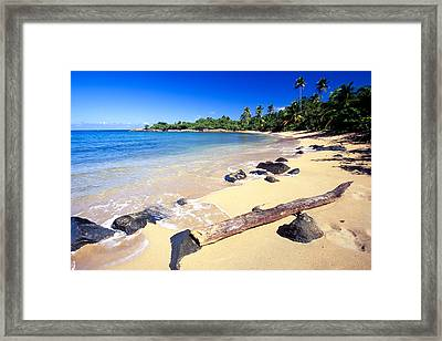 Pinones  Beach Scenic Framed Print by George Oze