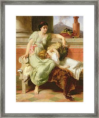 Pompeii Framed Print by Alfred W Elmore