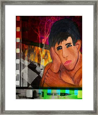 Portrait Of A Man 4 Framed Print by Emilio Lovisa