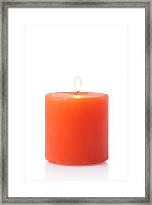 Red Candle Framed Print