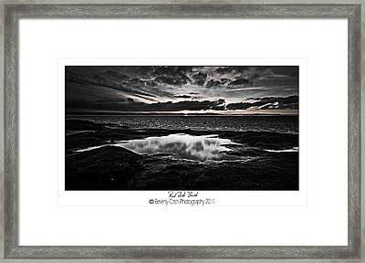 Red Rock Beach   Framed Print