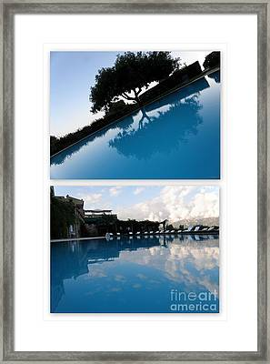 Framed Print featuring the photograph  Reflection. Collage by Tanya  Searcy