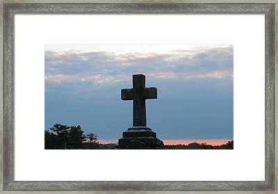 Remembrance At Sunset Framed Print