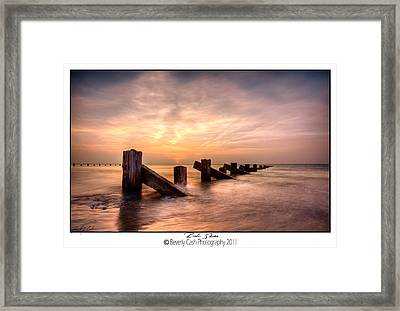 Rich Skies - Abermaw Framed Print