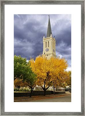 Richmond Church Tree Autumn Framed Print