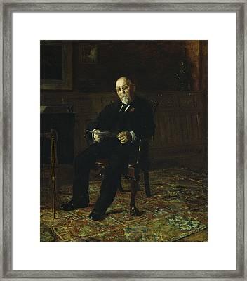 Robert M. Lindsay Framed Print by Thomas Cowperthwait Eakins