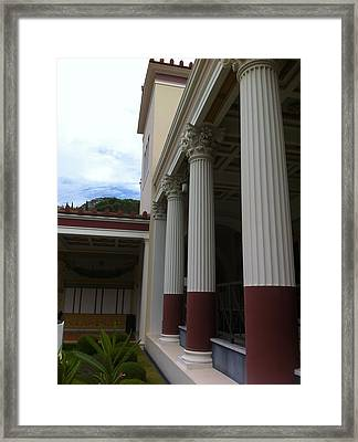 Roman Column  Framed Print by Paul Washington