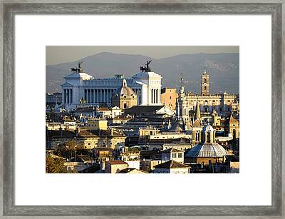 Rome's Rooftops Framed Print by Fabrizio Troiani