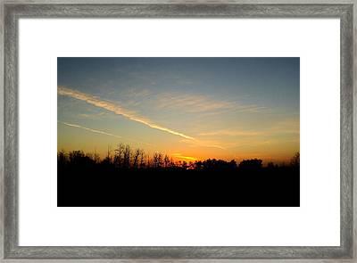 Saskatchewan Sunrise Framed Print by Janice Robertson