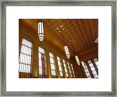 Saved Train Station Framed Print by Paul Washington