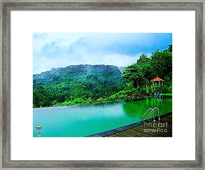 Scenery Of Mount Rinjani Framed Print by Vidka Art