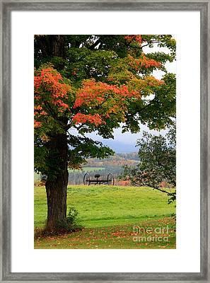 Scenic New England In Autumn Framed Print by Karen Lee Ensley