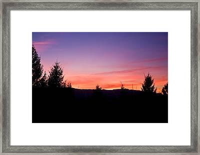 Silhouette Serenity Framed Print by Tyra  OBryant