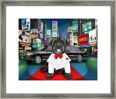 Sir Cuba Of Chelsea In Times Square Nyc Framed Print