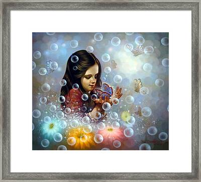Soap Bubble Girl 2 Framed Print