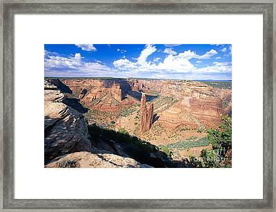 Spider Rock In Canyon De Chelly Framed Print by George Oze