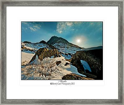 Spring Snows At Tryfan Framed Print