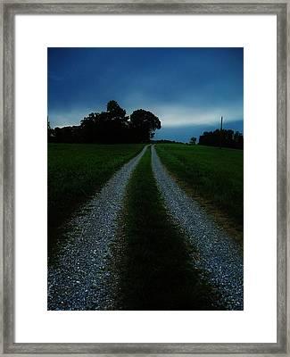 Stormy Road  Framed Print by Maria Blumberg