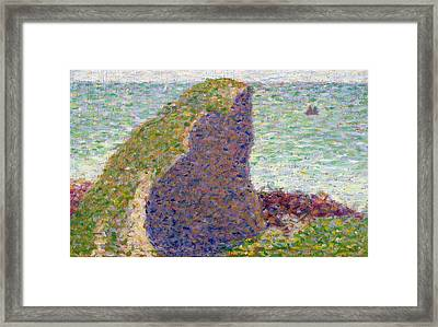 Study For Le Bec Du Hoc Framed Print