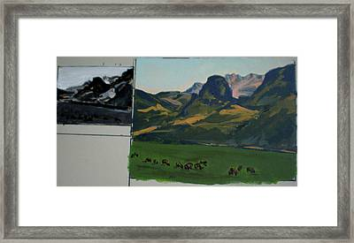 Study Of Electric Peak From Franks Place Framed Print