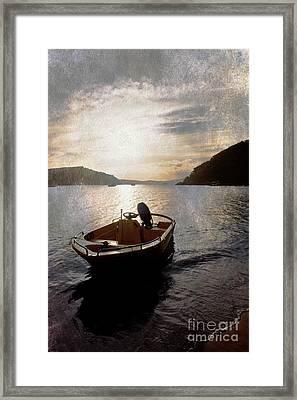 Sunset At Careel Bay Framed Print by Avalon Fine Art Photography