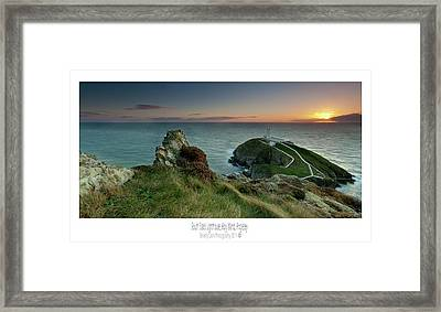 Sunset At South Stack Lighthouse Framed Print