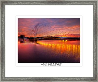 Sunset Over The Quay Framed Print