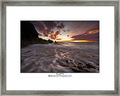Sunset Tides - Porth Swtan Framed Print