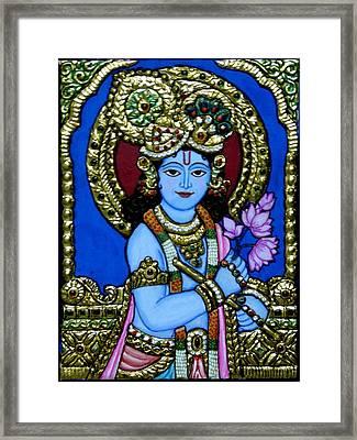 Tanjore Painting Framed Print by Vimala Jajoo