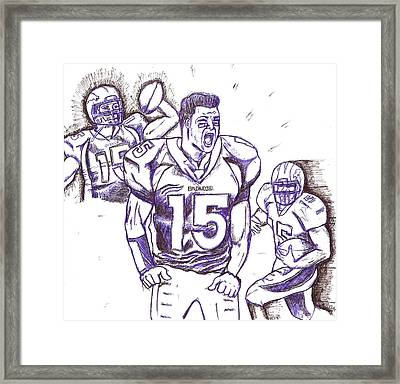 Tebow Time Let's Go  Framed Print by HPrince De Artist